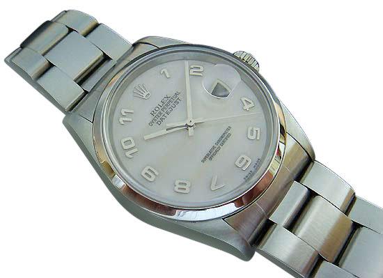 Men' s rolex datejust watch smooth bezel oyster bracelet