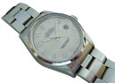Men' s rolex datejust watch smooth bezel oyster bracelet