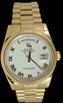 Men' s rolex president watch Day-Date yellow gold