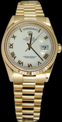President style rolex watch for men yellow gold rolex