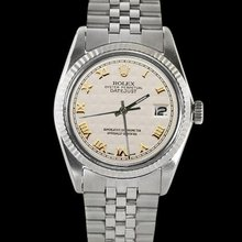 Pyramid dial Stainless steel ROLEX date just women