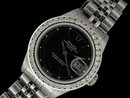 Rolex date just ladies watch diamond bezel datejust