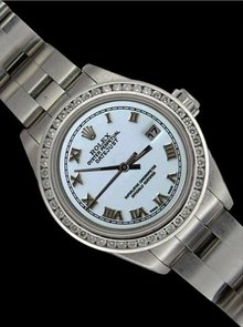 Rolex date just watch SS lady roman dial datejust