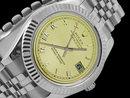 Rolex date man watch jubilee bracelet stainless steel