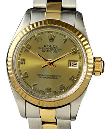 Rolex date watch ladies rolex roman dial two tone