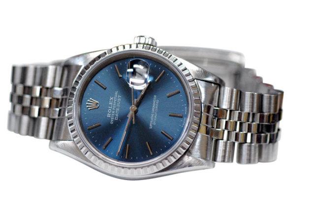 Rolex datejust jubilee bracelet men's watch stick dial