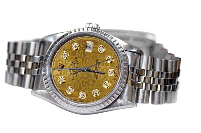 Rolex datejust jubilee bracelet mens watch diamond dial