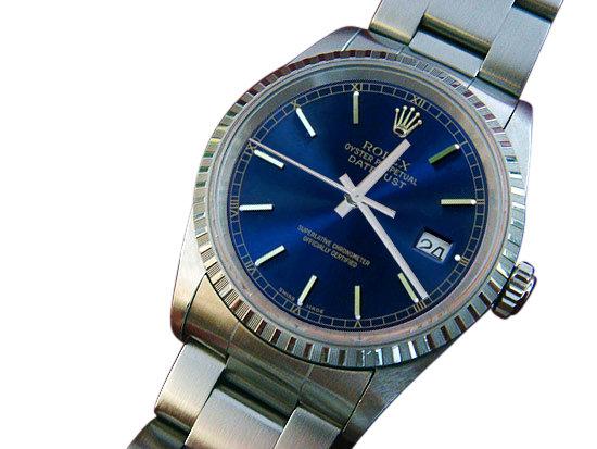 Rolex datejust ladies watch blue stick dial date just