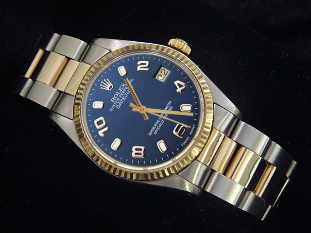 Rolex datejust lady watch blue Arabic dial two tone