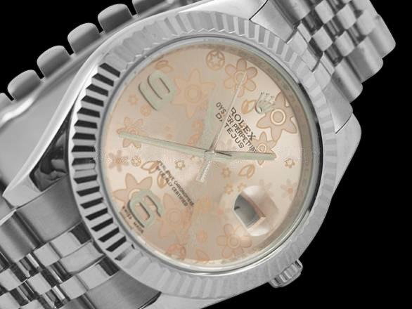 Rolex datejust men watch jubilee bracelet SS date just