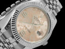 Rolex datejust men watch jubilee bracelet SS date just