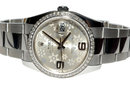 Rolex datejust men's watch flower dial date just