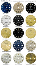 Rolex datejust men's watch flower dial date just