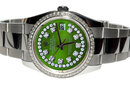 Rolex datejust mens watch diamond dial date just SS