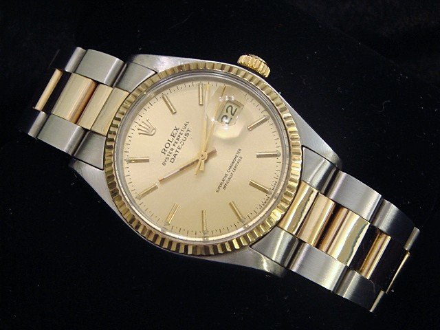 Rolex datejust watch oyster bracelet stick dial gents