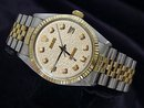 Rolex datejust watch white diamond dial date just