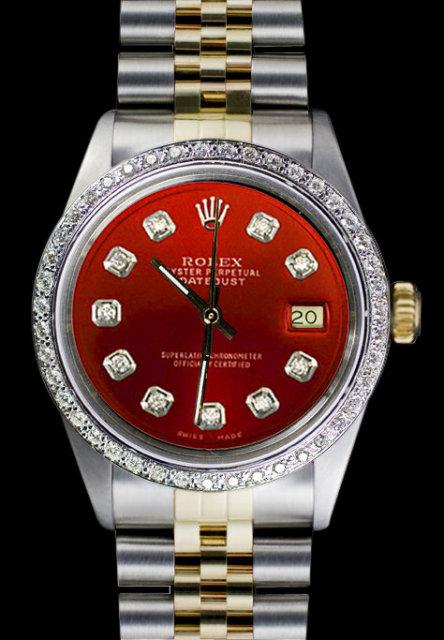Rolex jubilee bracelet datejust watch mens two tone
