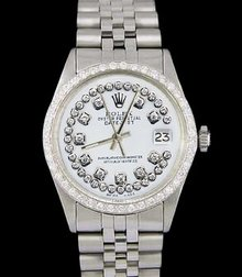 SS rolex date just watch string dial lady jubilee