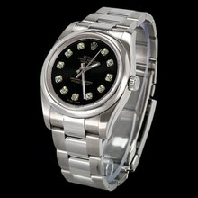 Smooth bezel ROLEX datejust men watch DIAMOND DIAL