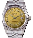Stainless steel rolex man datejust watch diamond dial