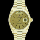 Stick dial men's rolex presidential watch yellow gold
