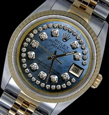 String diamond dial Jubilee two tone rolex men watch
