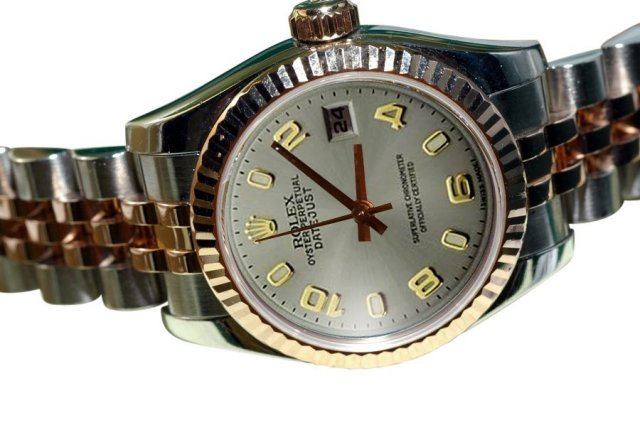 Two tone jubilee rolex datejust watch Arabic dial lady