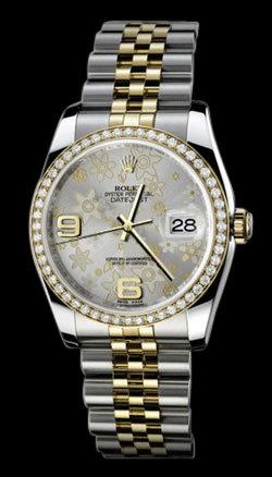 Women Gents rolex datejust jubilee bracelet watch two tone