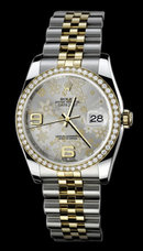 Women Gents rolex datejust jubilee bracelet watch two tone