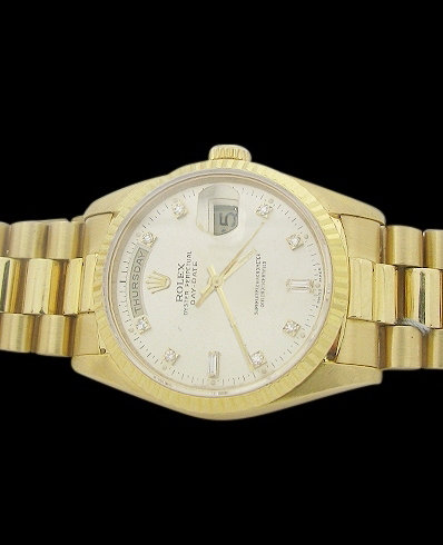 Yellow gold rolex president style watch gents day date