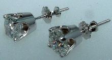 F VVS1 2 carats DIAMOND STUDS EARRINGS stud earring