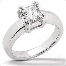 princess cut ring 0.75 Ct. sparkling DIAMOND Gold new