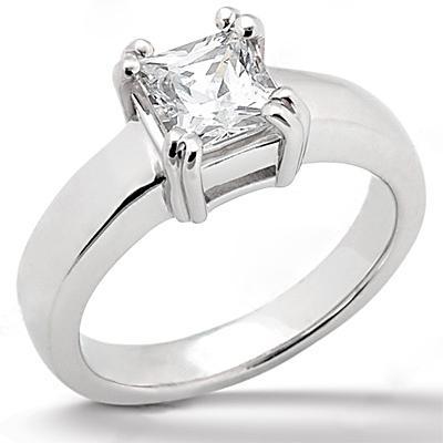 princess cut ring 0.75 Ct. sparkling DIAMOND Gold new