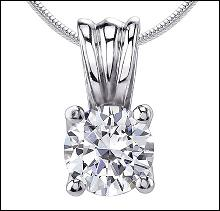 0.75 ct. diamond G SI1 pendant necklace jewelry gold