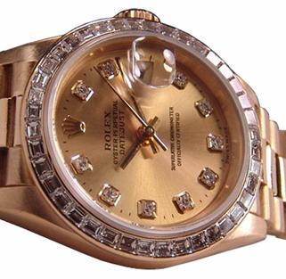 4.01 carat diamond gold bezel for rolex breitling watch
