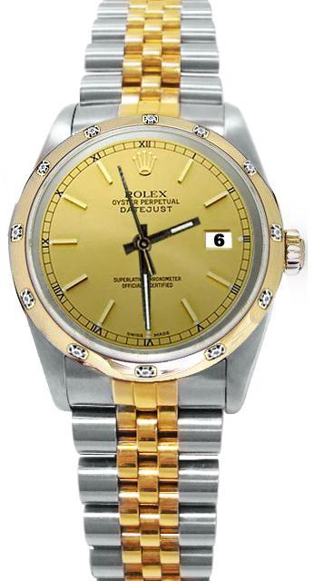 Bezel pearlmaster diamond rolex date just watch SS & gold jubilee bracelet