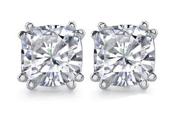 Big 4 cts. Cushion diamond earrings jewelry ear ring