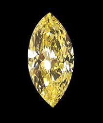 Big marquise yellow canary loose diamond 3 carats