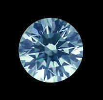 Big round cut loose diamond 2.50 carat blue diamond