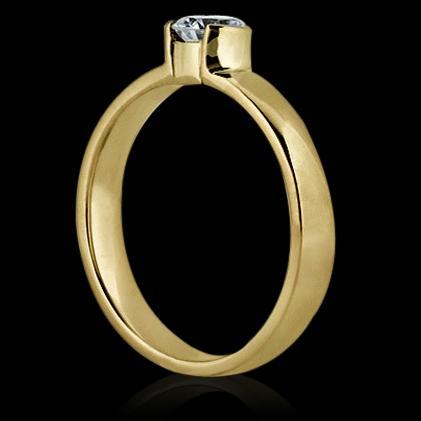 0.50 carat E VVS1 diamonds solitaire ring yellow gold