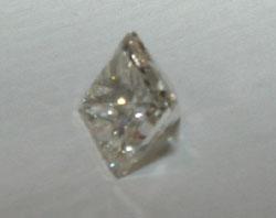0.25 carat F VVS1 loose princess cut diamond