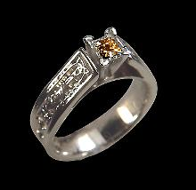 0.50 carat Brown diamond anniversary ring white gold jewelry