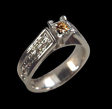 0.50 carat Brown diamond anniversary ring white gold jewelry