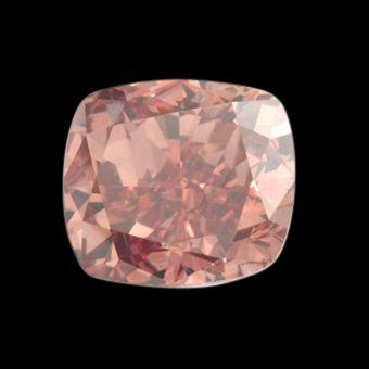0.75 ct. loose diamond cushion cut pink diamond natural
