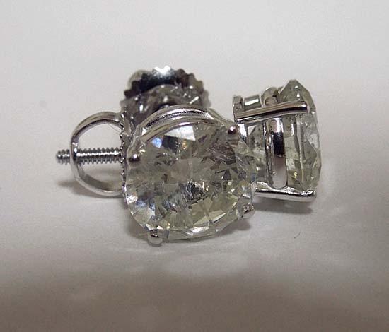 2 carats G VS1 DIAMOND STUDS EARRINGS Platinum earring new