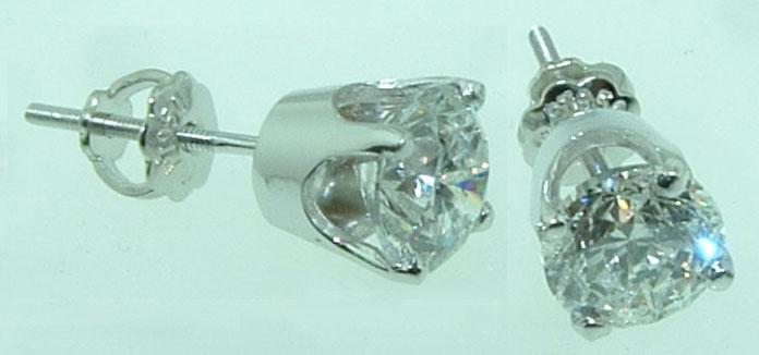 1.20 carats crown STUDS EARRINGS F VS1 new DIAMOND jewelry womens