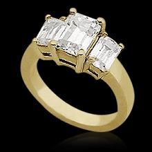 1 Carat 47TH STREET DIAMOND Engagement Ring yellow gold