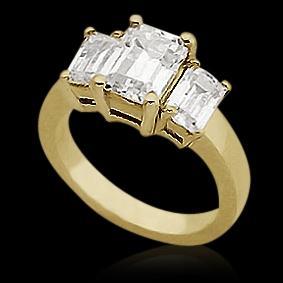 1 Carat 47TH STREET DIAMOND Engagement Ring yellow gold