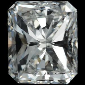 0.75 carat natural loose radiant diamond F VS1