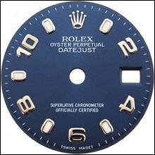 Blue Arabic dial for women rolex datejust watch dial